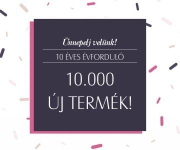 10 év 10 000 új termék