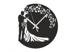 Akril - Esküvő2 - falióra