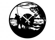 Akril - Horgász- falióra