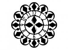 Akril - Mandala 3 - falióra