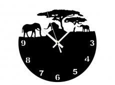 Akril - Szafari - falióra