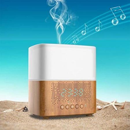 Aroma párologtató bluetooth hangszóróval órával és ébresztő funkcióval - 5001