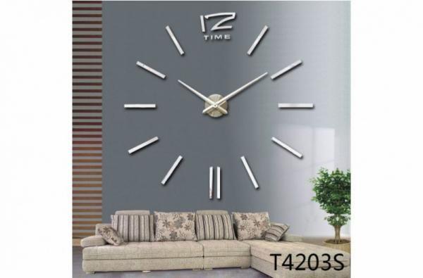 BIG 4203S óriás falióra   100 cm - ezüst