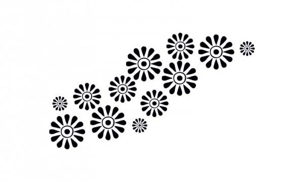 ByHome J27_Flowers faltetoválás