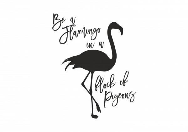ByHome J39_Flamingo faltetoválás