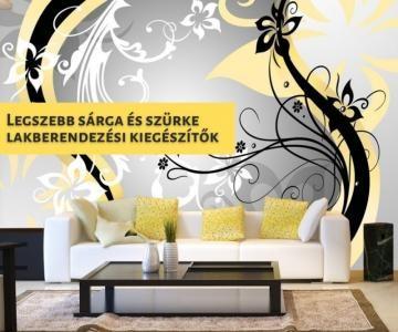 Legszebb sárga és szürke lakberendezési kiegészítők