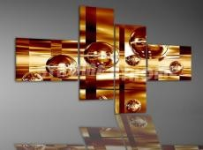 Digital Art Quatro vászonkép | 1082Q Golden Bubble