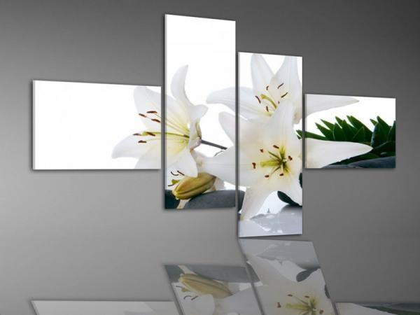 Digital Art Quatro vászonkép | 1980Q White flower S