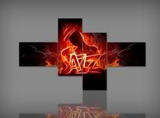 Digital Art vászonkép | 0020 Q Jazz S