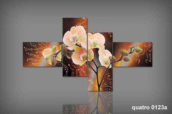 Digital Art vászonkép | 0123Q Orchidea Aranico S