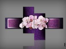 Digital Art vászonkép | 0202 Q Colorito Orchidea S