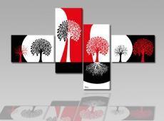 Digital Art vászonkép | 1001 Q Rosso Alberi Neri S