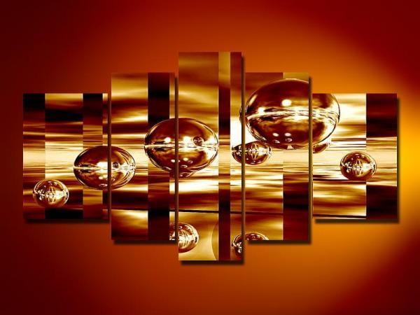 Digital Art vászonkép | 1082 Golden Bubble