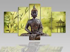 Digital Art vászonkép | 1202-S Buddha Verde