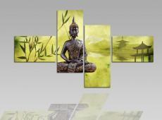 Digital Art vászonkép | 1202Q Buddha Verde S