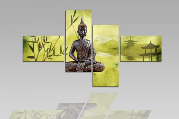 Digital Art vászonkép   1202Q Buddha Verde S
