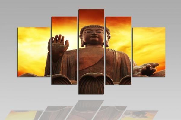 Digital Art vászonkép | 1213-S Buddha Sunrise