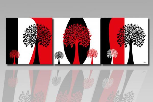 Digital Art vászonkép | 1216-S Tricolorato Salto Tree CUBE