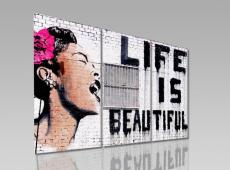 Digital Art vászonkép | 1234-S Life is beautiful THREE