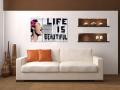 Digital Art vászonkép | 1234-S Life is beautiful THREE