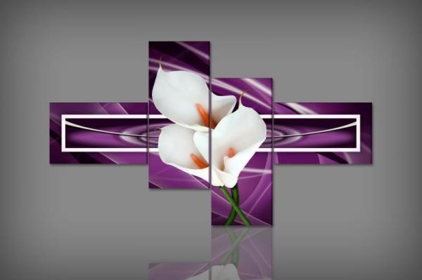 Digital Art vászonkép | 1259Q Viola Calla S