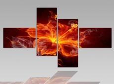 Digital Art vászonkép | 1262Q Fire Flower 2 S