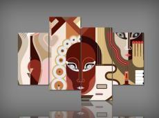 Digital Art vászonkép | 5563 Q Abstratto Volto Guatri S