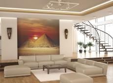 Fotótapéta - A Giza Necropolis - sunset