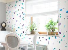 Fotótapéta - Blue confetti
