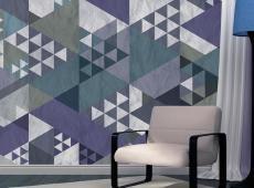 Fotótapéta - Blue patchwork