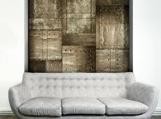 Fotótapéta - Brass mosaic
