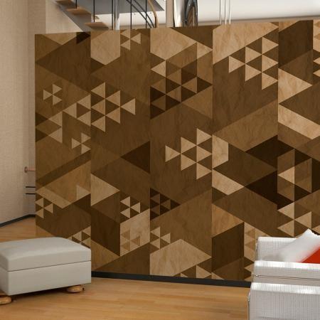 Fotótapéta - Brown patchwork