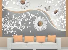 Fotótapéta - Flying daisies