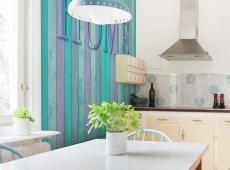Fotótapéta - house (turquoise)