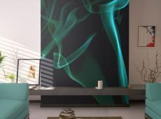 Fotótapéta - Kék füst hullámok
