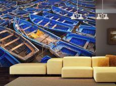 Fotótapéta - Kék halászhajók