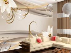 Fotótapéta - Lilies and The Gold Spirals