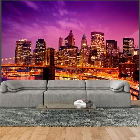 Fotótapéta - Manhattan és Brooklyn-híd éjjel