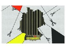 Fotótapéta - map, Germany (barcode)