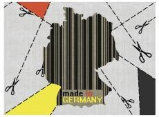 Fotótapéta - map - Germany (barcode)
