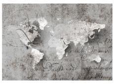 Fotótapéta - Map and letter