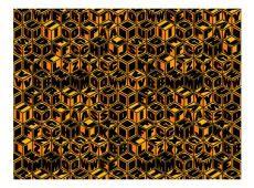 Fotótapéta - Méz színű kocka