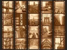 Fotótapéta - New York - Collage (sepia)