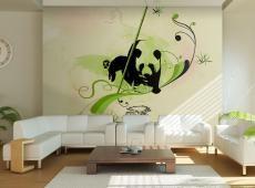 Fotótapéta - Óriás panda bambusz erdőben