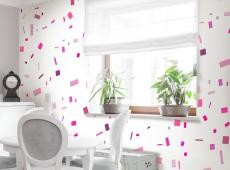 Fotótapéta - Pink confetti