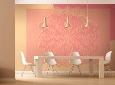 Fotótapéta - Rózsaszín dísz