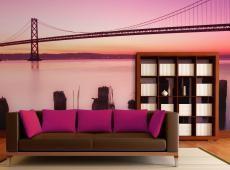 Fotótapéta - San Francisco-öböl lila, California