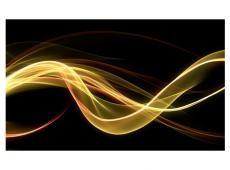 Fotótapéta - Sárga hullám formában úszó sötét