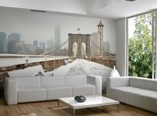 Fotótapéta - Snow borított híd New York