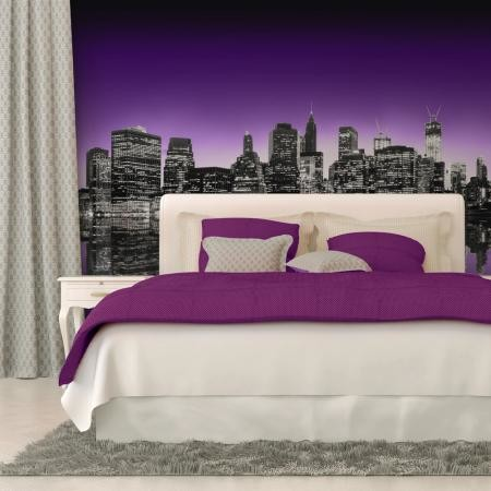 Fotótapéta - The Big Apple in purple color
